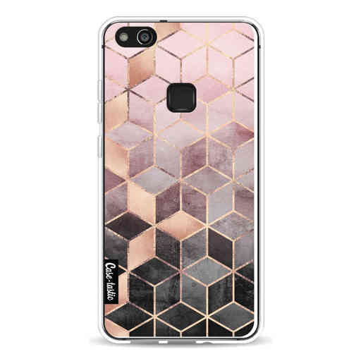Casetastic Softcover Huawei P10 Lite - Soft Pink Gradient Cubes