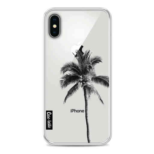 Casetastic Softcover Apple iPhone X / XS - Palm Tree Transparent