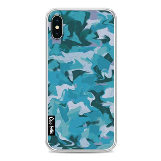 Casetastic Softcover Apple iPhone X / XS - Aqua Camouflage