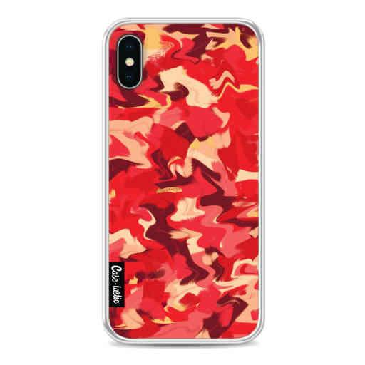 Casetastic Softcover Apple iPhone X / XS - Fire Camouflage