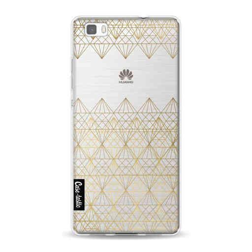 Casetastic Softcover Huawei P8 Lite (2015) - Golden Diamonds