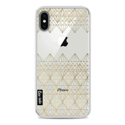 Casetastic Softcover Apple iPhone X / XS - Golden Diamonds