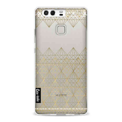 Casetastic Softcover Huawei P9 - Golden Diamonds