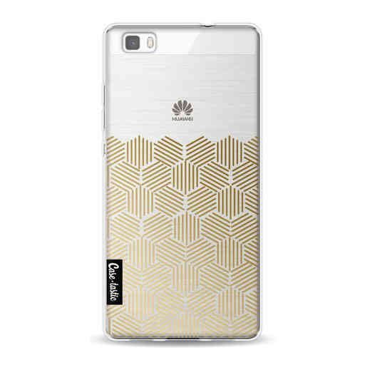 Casetastic Softcover Huawei P8 Lite (2015) - Golden Hexagons