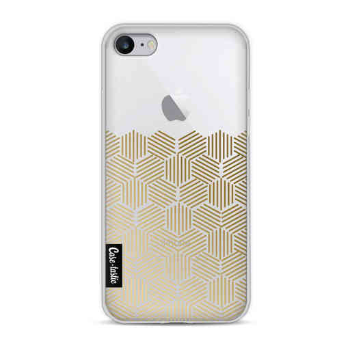Casetastic Softcover Apple iPhone 8 - Golden Hexagons