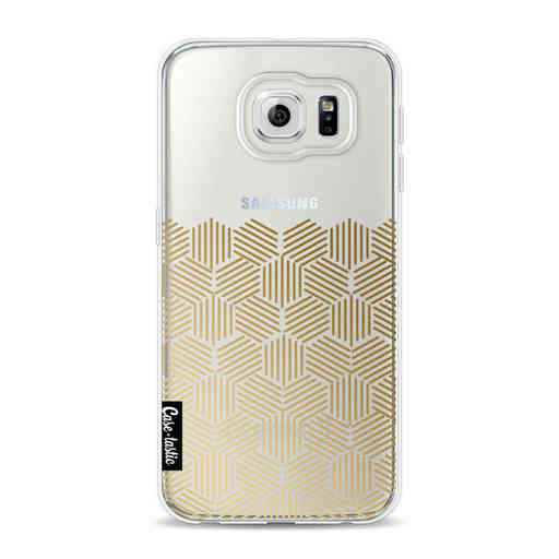 Casetastic Softcover Samsung Galaxy S6 - Golden Hexagons