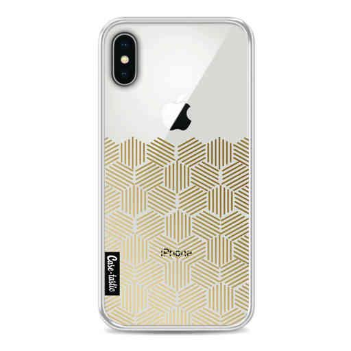 Casetastic Softcover Apple iPhone X / XS - Golden Hexagons