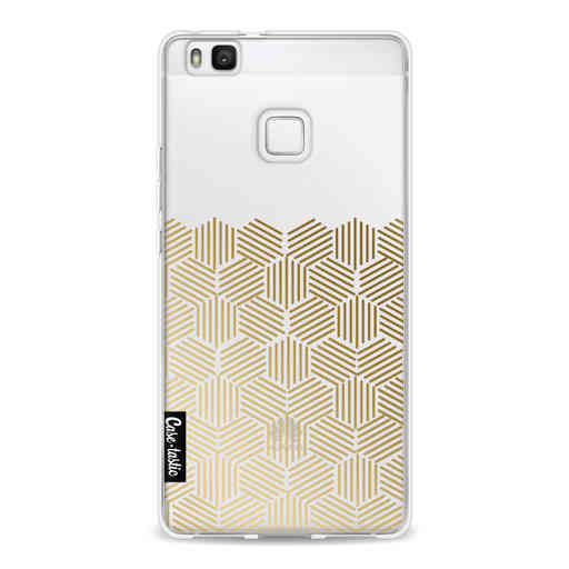 Casetastic Softcover Huawei P9 Lite - Golden Hexagons