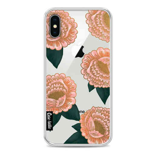 Casetastic Softcover Apple iPhone X / XS - Winterly Flowers