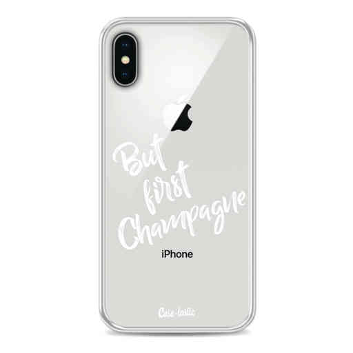 Casetastic Softcover Apple iPhone X / XS - But First Champagne