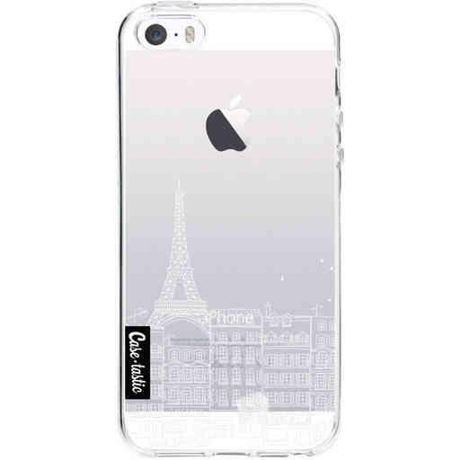 Casetastic Softcover Apple iPhone 5 / 5s / SE - Paris City Houses White