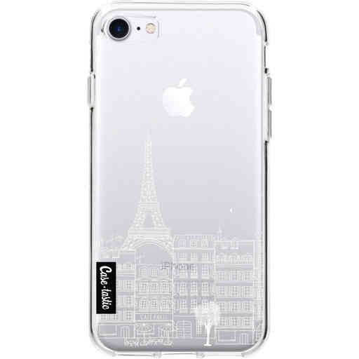 Casetastic Softcover Apple iPhone 7 / 8 / SE (2020) - Paris City Houses White
