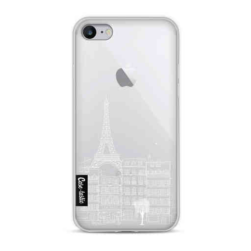 Casetastic Softcover Apple iPhone 8 - Paris City Houses White