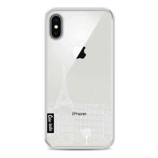 Casetastic Softcover Apple iPhone X / XS - Paris City houses White