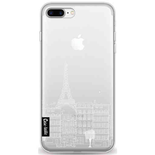 Casetastic Softcover Apple iPhone 7 Plus / 8 Plus - Paris City houses White