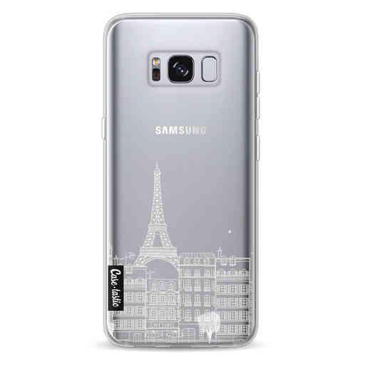 Casetastic Softcover Samsung Galaxy S8 - Paris City houses White