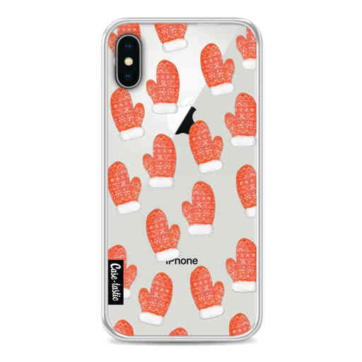 Casetastic Softcover Apple iPhone X - Christmas Mittens