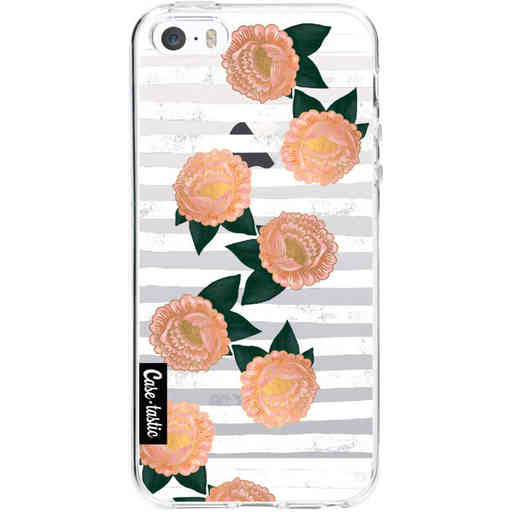 Casetastic Softcover Apple iPhone 5 / 5s / SE - Striped Winter Flowers