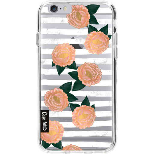 Casetastic Softcover Apple iPhone 6 / 6s - Striped Winter Flowers
