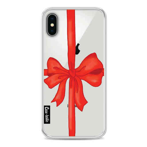 Casetastic Softcover Apple iPhone X / XS - Christmas Ribbon