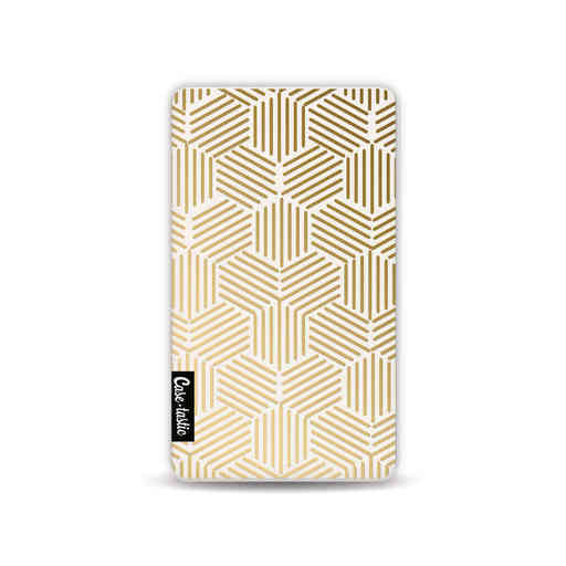 Casetastic Powerbank 4.000 mAh - Golden Hexagons
