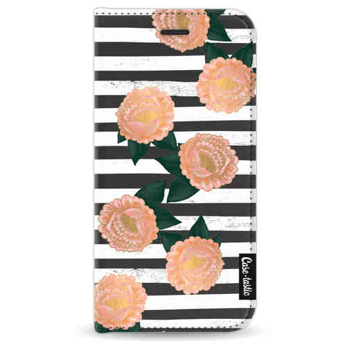 Casetastic Wallet Case Black Apple iPhone 8 - Striped Winter Flowers