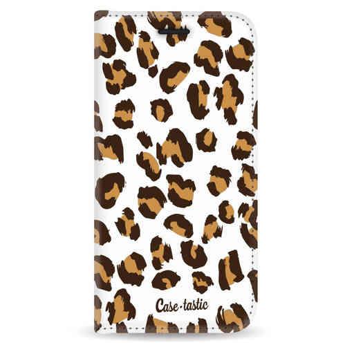 Casetastic Wallet Case White Apple iPhone 5 / 5s / SE - Leopard Print