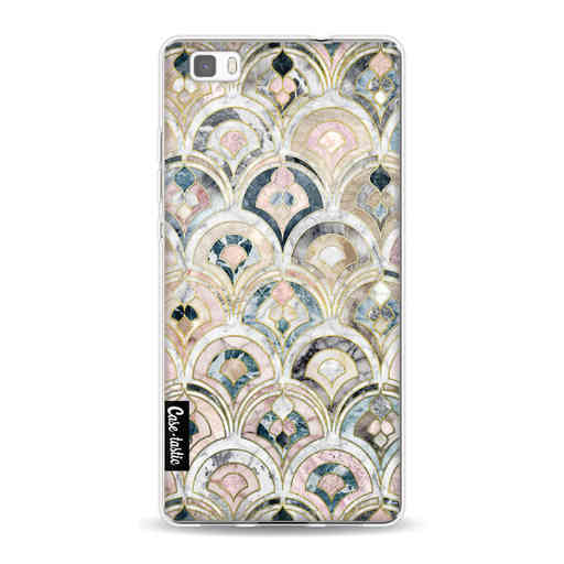 Casetastic Softcover Huawei P8 Lite (2015) - Art Deco Marble Tiles