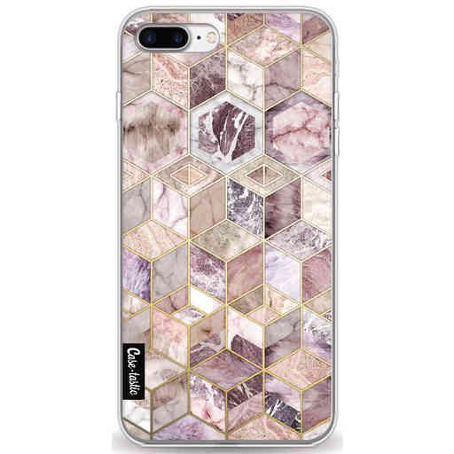 Casetastic Softcover Apple iPhone 7 Plus / 8 Plus - Blush Quartz Honeycomb