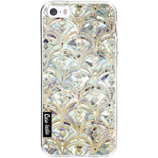 Casetastic Softcover Apple iPhone 5 / 5s / SE - Mint Art Deco Marbling