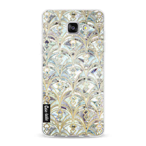 Casetastic Softcover Samsung Galaxy A5 (2016) - Mint Art Deco Marbling