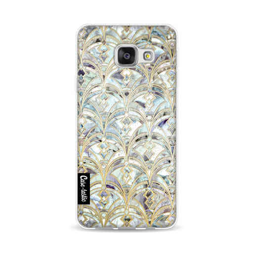 Casetastic Softcover Samsung Galaxy A3 (2016) - Mint Art Deco Marbling
