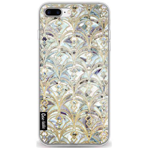 Casetastic Softcover Apple iPhone 7 Plus / 8 Plus - Mint Art Deco Marbling