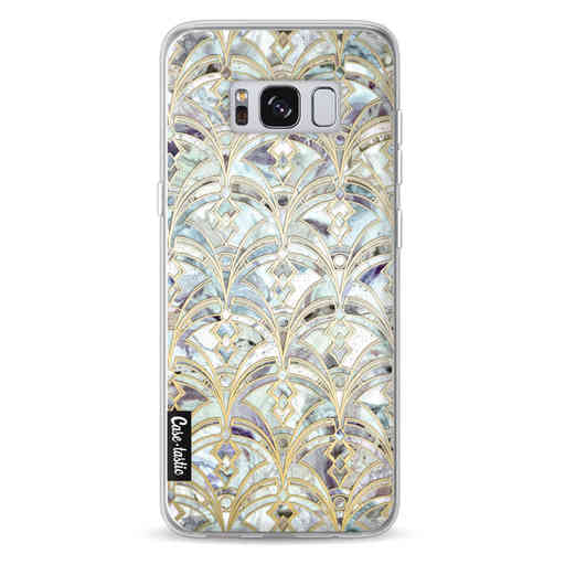 Casetastic Softcover Samsung Galaxy S8 - Mint Art Deco Marbling