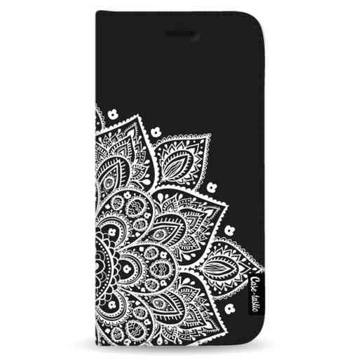 Casetastic Wallet Case Black Samsung Galaxy Note 8 - Floral Mandala White