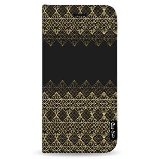 Casetastic Wallet Case Black Samsung Galaxy Note 8 - Golden Diamonds