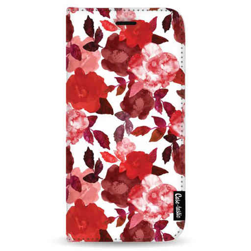 Casetastic Wallet Case White Samsung Galaxy Note 8 - Royal Flowers Red