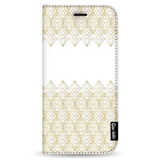 Casetastic Wallet Case White Samsung Galaxy Note 8 - Golden Diamonds
