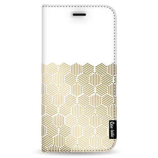 Casetastic Wallet Case White Samsung Galaxy Note 8 - Golden Hexagons