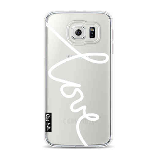 Casetastic Softcover Samsung Galaxy S6 - Written Love White