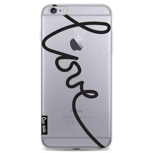 Casetastic Softcover Apple iPhone 6 Plus / 6s Plus - Written Love Black