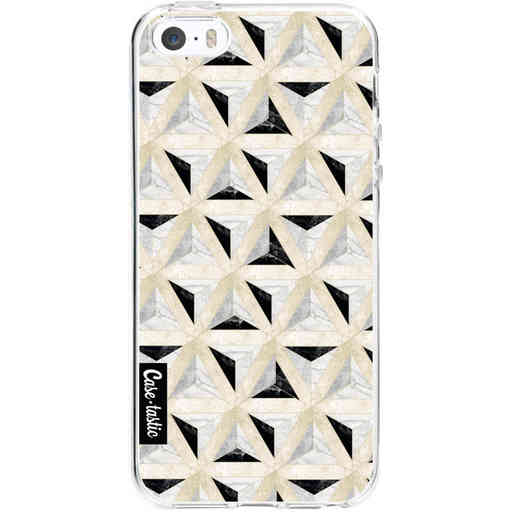 Casetastic Softcover Apple iPhone 5 / 5s / SE - Marble Triangle Blocks