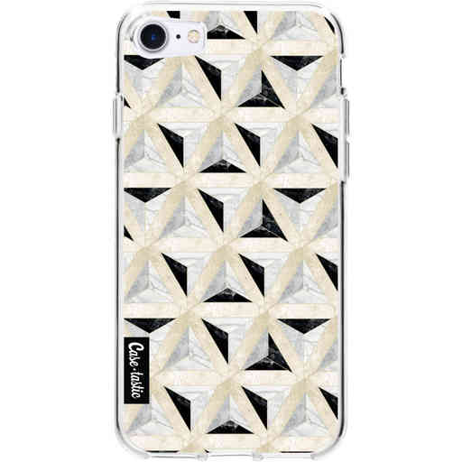 Casetastic Softcover Apple iPhone 7 / 8 / SE (2020) - Marble Triangle Blocks