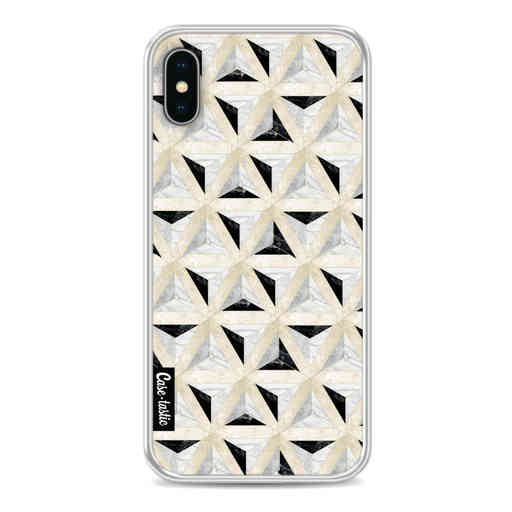Casetastic Softcover Apple iPhone X / XS - Marble Triangle Blocks