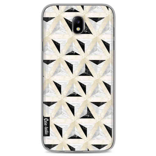 Casetastic Softcover Samsung Galaxy J7 (2017) - Marble Triangle Blocks