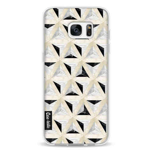 Casetastic Softcover Samsung Galaxy S7 Edge - Marble Triangle Blocks