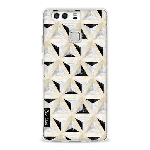Casetastic Softcover Huawei P9 - Marble Triangle Blocks