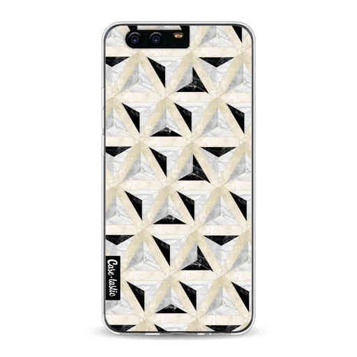 Casetastic Softcover Huawei P10 - Marble Triangle Blocks