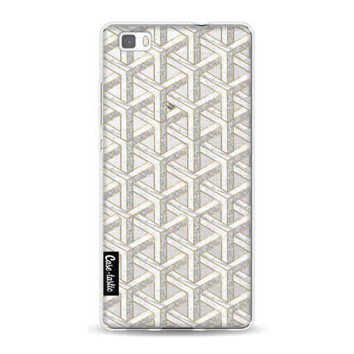 Casetastic Softcover Huawei P8 Lite - Abstract Marble Transparent
