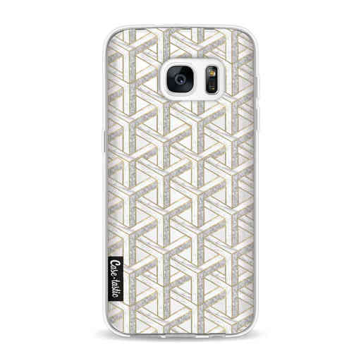 Casetastic Softcover Samsung Galaxy S7 - Abstract Marble Transparent